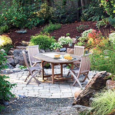 Paving Stone Patios Chunks Cobblestones And Backyards