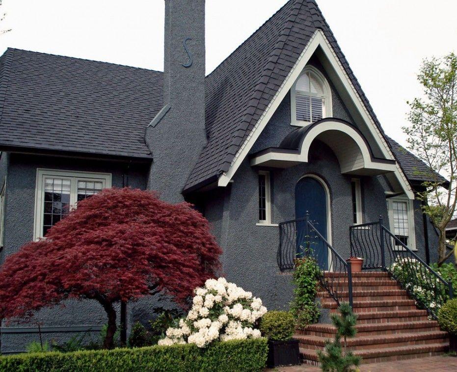 Creative Exterior Paint Color Schemes For Unique House With Gray
