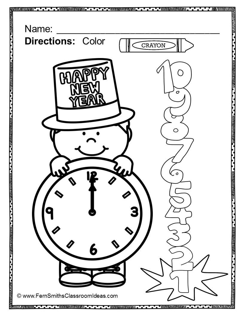 Fern's Freebie Friday ~ FREE Color For Fun New Years and