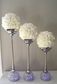 Wedding - Crystal Candle Holder SET OF 3 Silver Bling ...