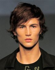 medium hairstyles guys hair