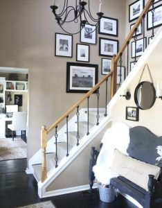 Entryway picture gallery photographs displaying photos wall hallway also rh za pinterest