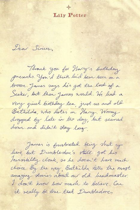 Lily   letter to sirius also topic marauder era pinterest harry rh