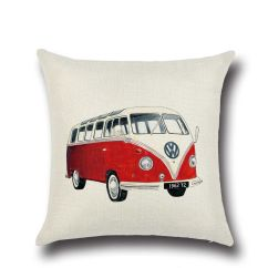 Sofa Cushions Without Covers Leather With Chaise Lounge Creative Cartoon Bus Pillow For Car Couch