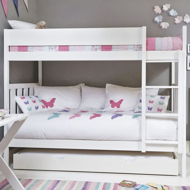 Bright White Darwin Bunk Bed Beds Mattresses