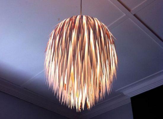 63 Interesting Lamp Shades Made Of Recycled Materials
