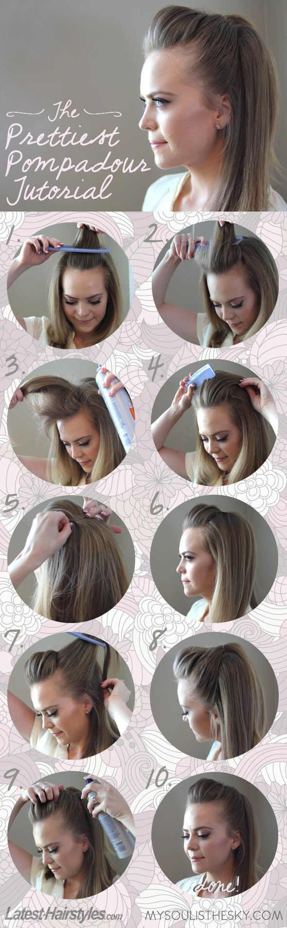 The Easiest Pretty Pompadour Tutorial You'll Ever See Hair