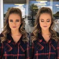 Prom hair & makeup by @ breprice #prom #makeup #hairstyle ...