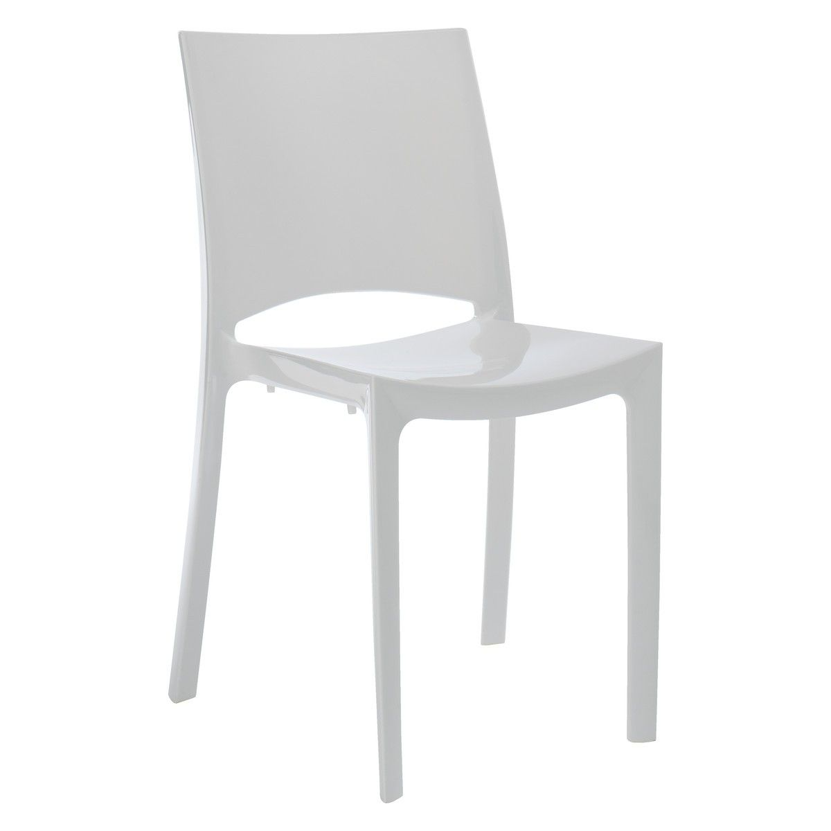 Plastic Dining Chairs Verne White Plastic Stackable Dining Chair Buy Now At