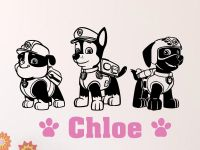 Paw Patrol Wall Decal | Personalized Name Vinyl Wall Decal ...