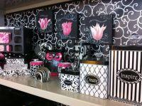 Black & pink office decor on Pinterest