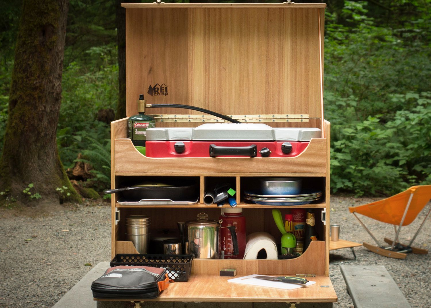 How to Build Your Own Camp Kitchen Chuck Box  REI Blog