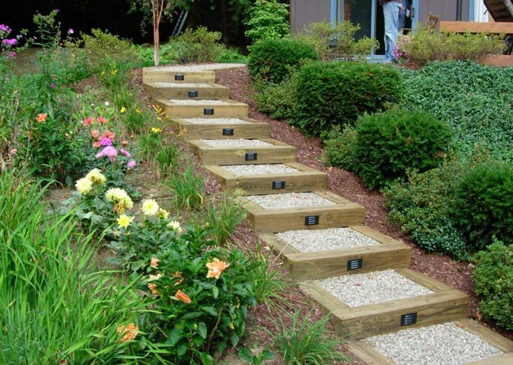 What Kind Of Landscaping For A Hill Garden Gravel Steps Home