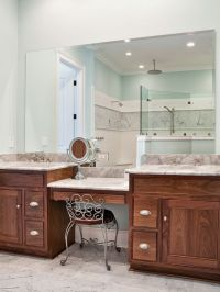 Master Bathroom Makeup Vanity. Use idea only with one sink ...