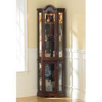 Ambridge Corner Curio Cabinet | Wall curio cabinet, Wall ...
