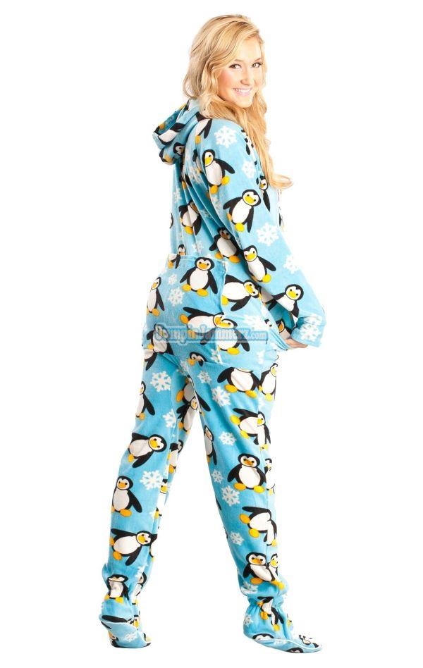 Adult Drop Seat Hoodie Pajamas