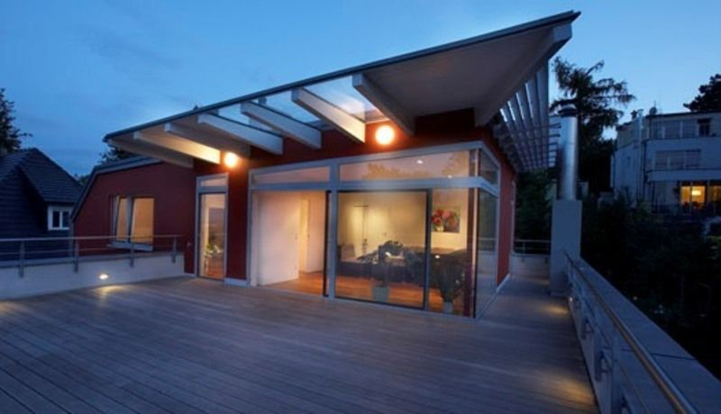 Modern Panoramic Roof Terrace House Conversion Design Design