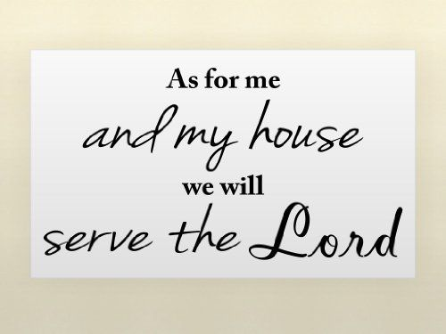 As for me and my house we will serve the lord vinyl wall quotes religious sayings also rh pinterest