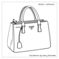 PRADA - SAFFIANO BAG- Designer Handbag Illustration ...