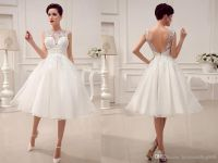 2015 Wedding Dresses Little White Dresses A-Line Wedding ...