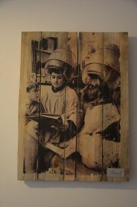 DIY Pallet Vintage Picture Wall Art | Modge podge photo ...