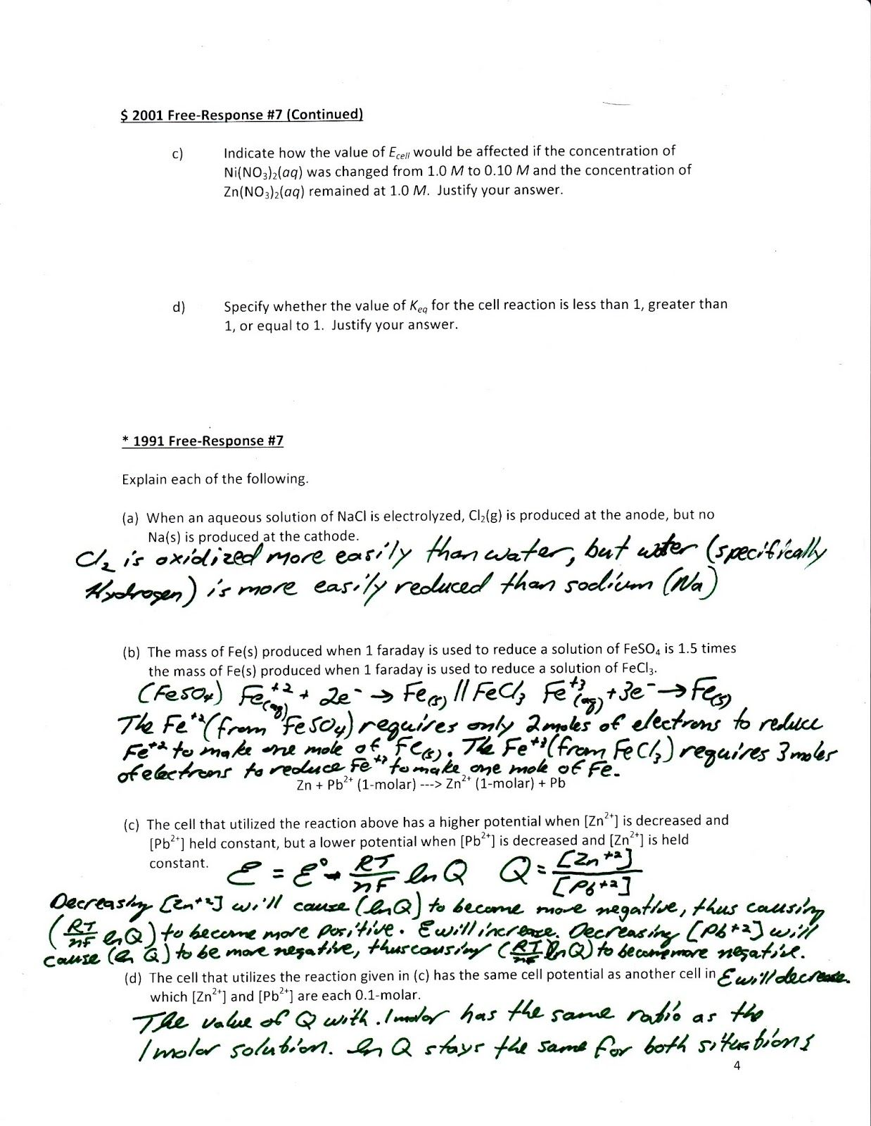 Biochemistry Basics Worksheet Answers