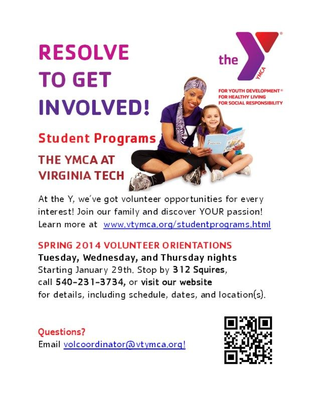 YMCA at Virginia Tech  Volunteer OrientationTraining