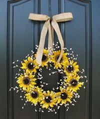 Sunflower Wreaths - Berry Wreath - Fall Decor - Front Door ...