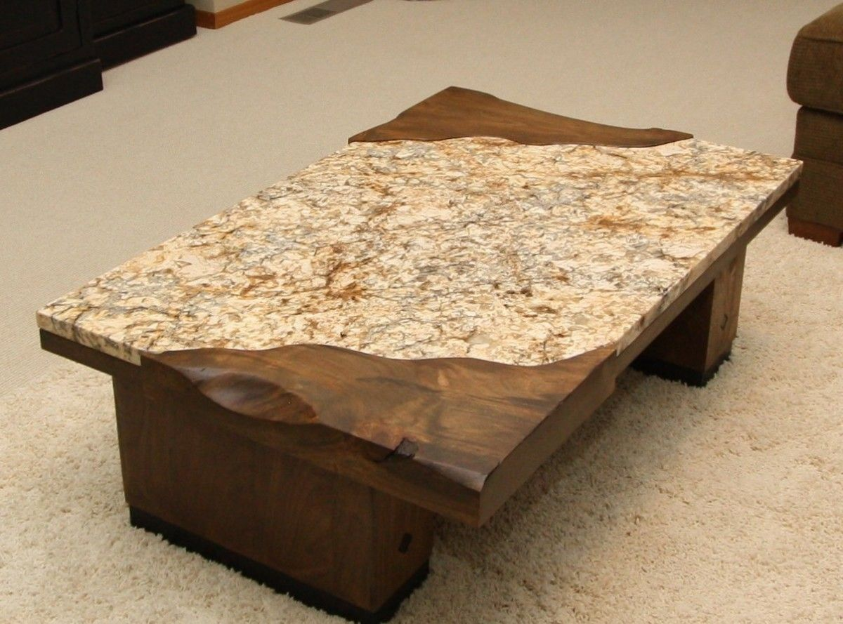 Furniture: Desired Granite Coffee Table With Rectangular