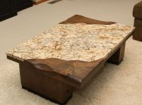 Furniture: Desired Granite Coffee Table With Rectangular ...