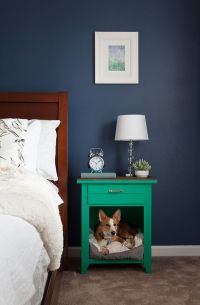 Upcycled Dog Bed Nightstand | Wall colors, Pets and Beds