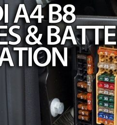 where are fuses and battery in audi a4 b8 fusebox audi a4 1 8t fuse box 2008 audi a4 fuse box diagram [ 1280 x 720 Pixel ]