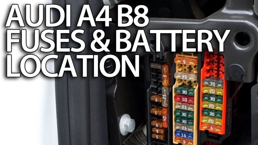 medium resolution of where are fuses and battery in audi a4 b8 fusebox audi a4 1 8t fuse box 2008 audi a4 fuse box diagram