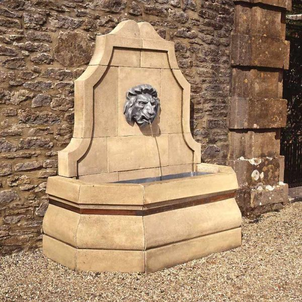 Stone Lion Wall Fountain Outdoor