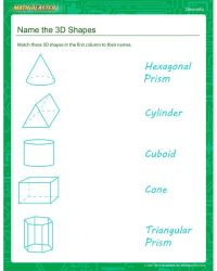 Name the 3D Shapes - Second Grade Geometry worksheet ...
