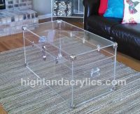 Acrylic Lucite Clear Large Trunk Coffee Table by ...