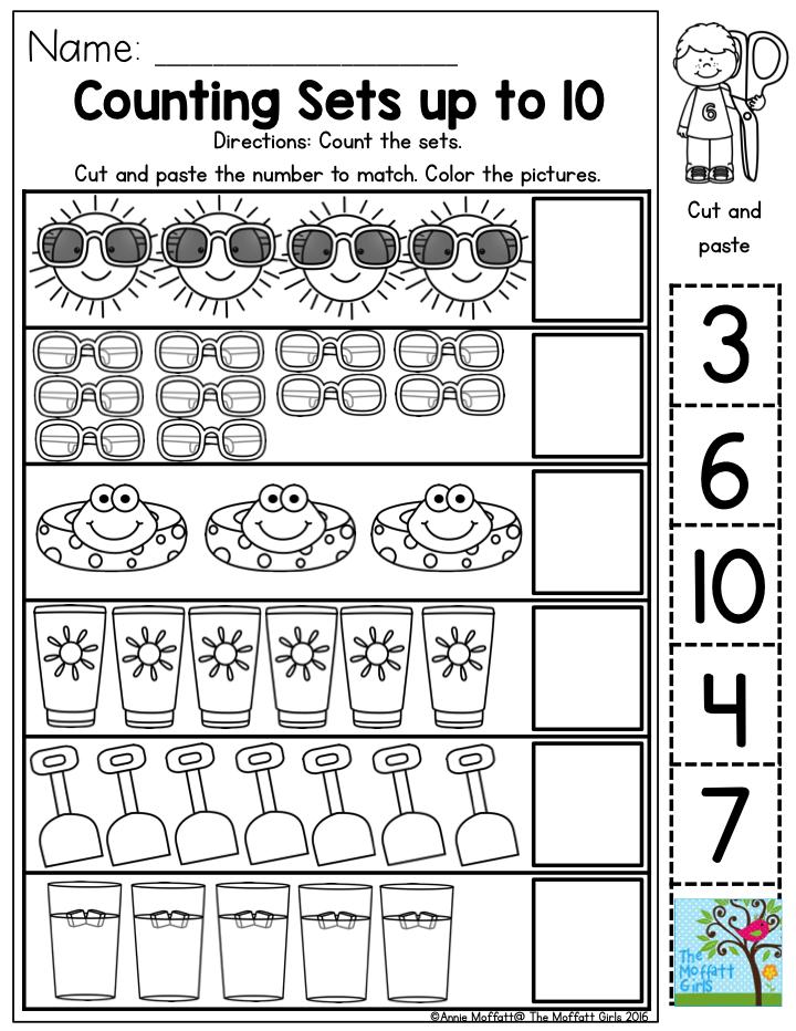 Number Line Worksheets » Sets Of Objects Worksheets