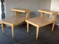 blonde mid century end tables   ... Mid Century Modern ...