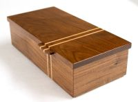 Walnut box with mitered corner joints and a Maple racing ...