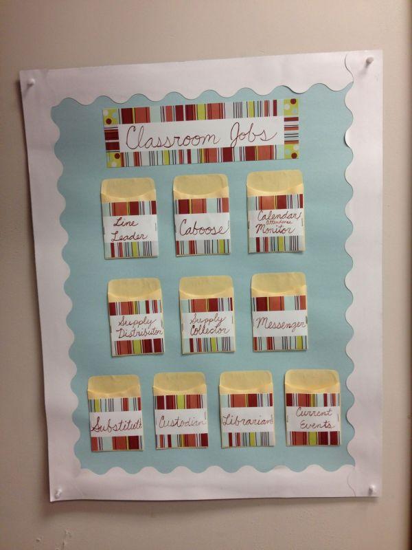 Diy Classroom Jobs Chart Posterboard Desk Cards