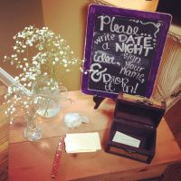 Sign in table for a couple's shower or bridal shower. So