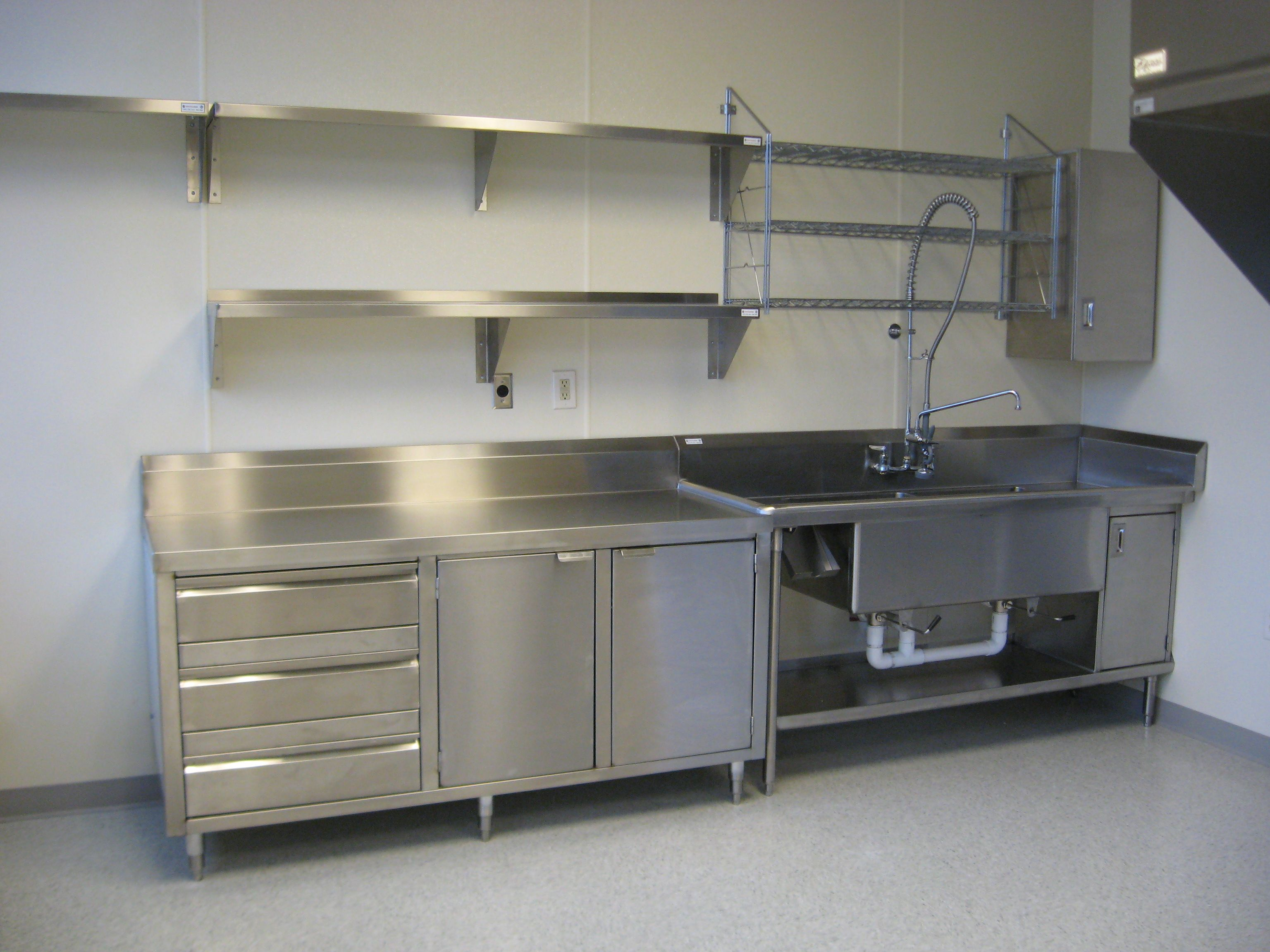 stainless steel kitchen racks valance curtains shelves industrial pinterest