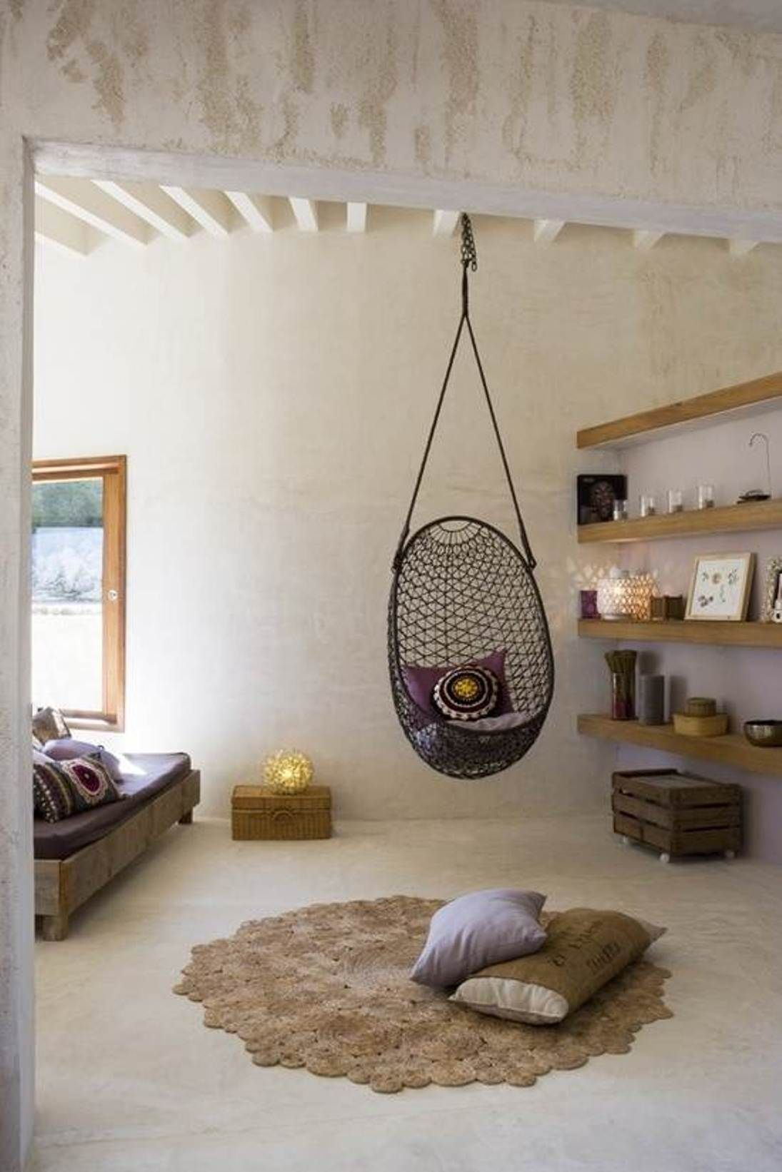 captivating grid rattan bedroom hanging chair design