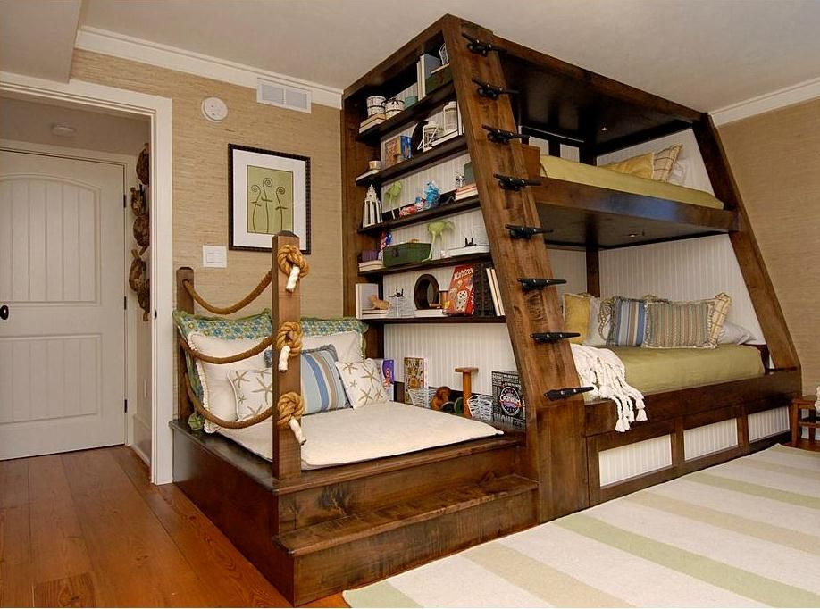 This Condo Remodel Features And Innovative Double Bunk Bed And