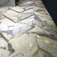 Marble flooring from Antolini at 100% Design. The ultimate