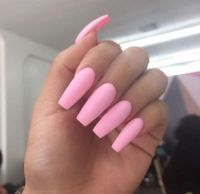 Long Pink Acrylic Nails Tumblr | Nails Design | Pinterest ...