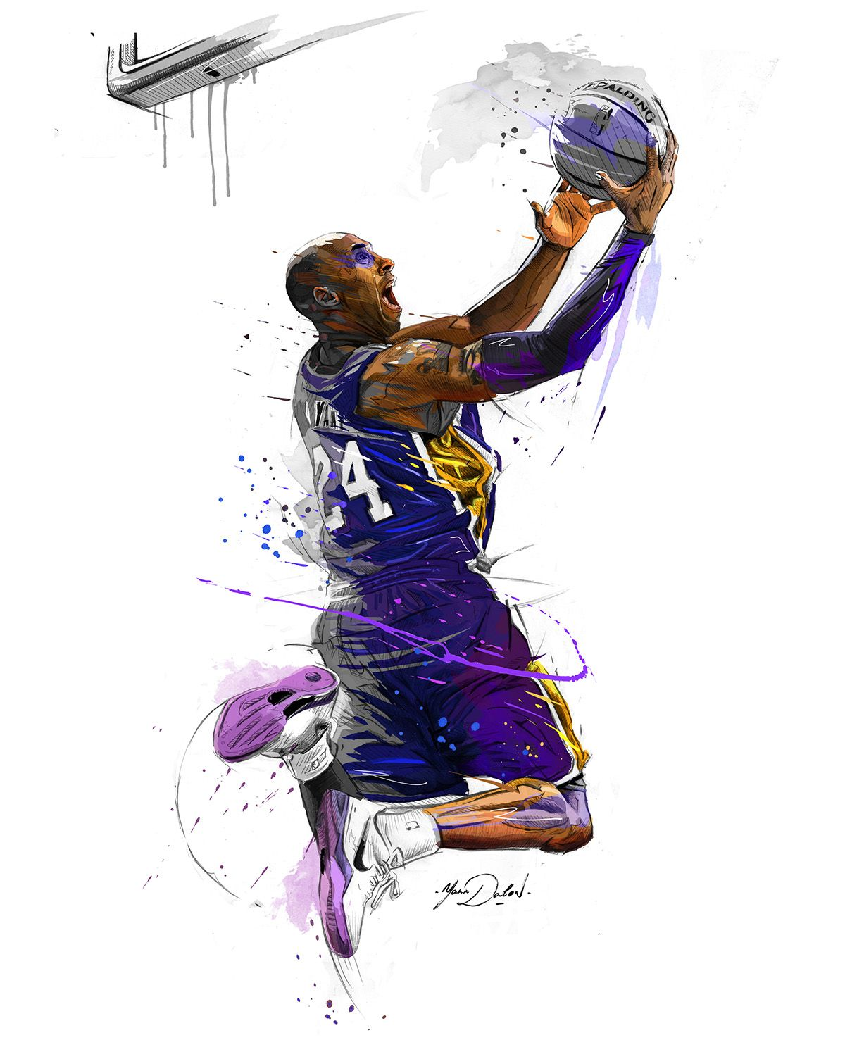 Knicks Basketball Logo Coloring Page