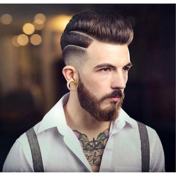 Hohe Lo Verblassen Mittlere Pompadour #men #hairstyles #models