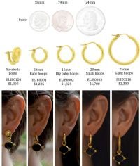 stud earring sizes