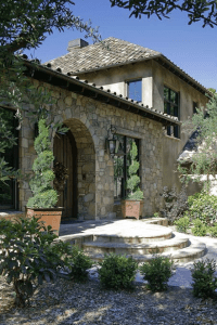 Tuscan Hillside Home & Barn | JMA Distinctive Homes b ...
